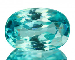 ~SHIMMERING~ 2.15 Cts Natural Greenish Blue Zircon Oval Cut Cambodia