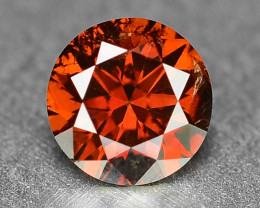 *NoReserve* Diamond 0.20 Sparkling Fancy Intense Red Color Natural  Treated