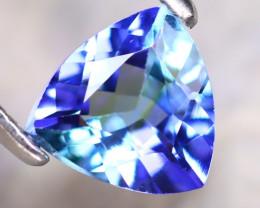 Tanzanite 0.92Ct Natural VVS Purplish Blue Tanzanite D1810/D3