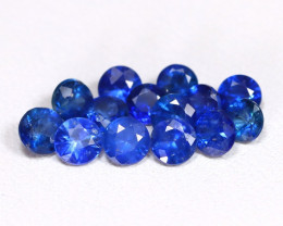 2.78Ct Round 3.3mm Natural Untreated Blue Color Sapphire Lot B2401