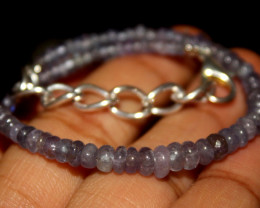 Natural Plain Tanzanite Bracelet