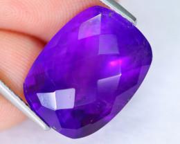 10.13cts Natural Purple Checkerboard Cut Amethyst / MA868