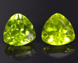 1.80cts Natural Apple Green Peridot Pair / MA869