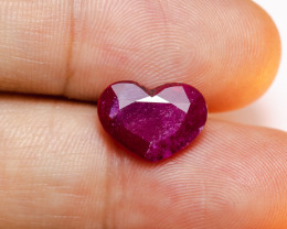 4.42ct Lab Certified Faceted Heart Shaped Ruby **EARTH-MINED**
