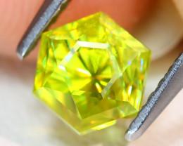 Sphene 1.37Ct VVS Master Cut Natural Rainbow Flash Green Sphene AB6210