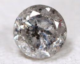 Salt And Pepper Diamond 0.14Ct Natural Untreated Fancy Diamond AB6214