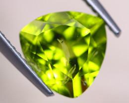 2.92Ct Natural Green Peridot Trillion Cut Lot V8321