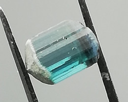 Tourmaline, 1.485ct, indicolite of rare beautiful colour!