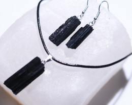 Holistic black Tourmaline 3 pc Jewelry Set BRBT2-1