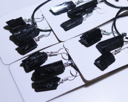 Four sets Holistic black Tourmaline 12 pc Jewelry Set BRBT2-4