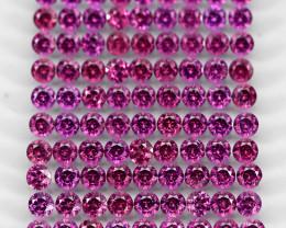 10.16 Ct 90pcs. 2.7mm Round 100% Natural Neon Purple Rhodolite Garnet Malaw