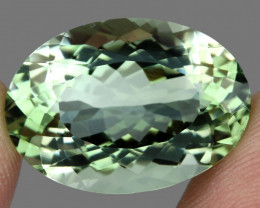 Big VVS 26.93ct 24x17mm Oval Cut Natural Top Rich Green Amethyst Brazil Spa