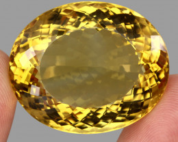 Museum Size 110.12  ct. Natural Unheated Top Quality Yellow Golden Citrine