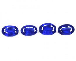 2.54 Cts 4 Pcs Fancy Royal Blue Color Natural Kyanite Gemstones