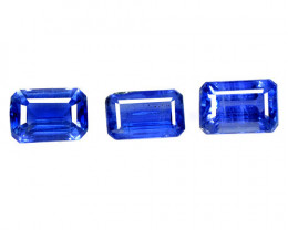 2.38 Cts 3 Pcs Fancy Royal Blue Color Natural Kyanite Gemstones