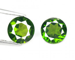 Chrome Diopside 1.55 Cts Paired Natural Green Color Loose Gemstones