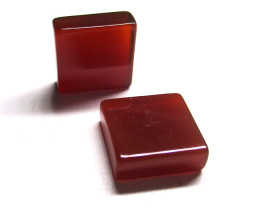 15.75tcw Carnelian  Matched Square Discs