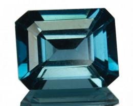 ~EMERALD CUT~ 2.99 Cts Beautiful Natural London Blue Topaz Brazil
