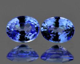 5x4 mm Oval 2 pcs 0.91ct Blue Sapphire [VVS]