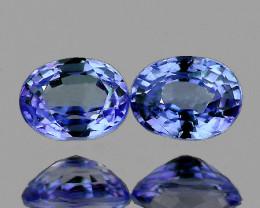 5x4 mm Oval 2 pcs 0.90ct Blue Sapphire [VVS]