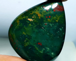 54.05 ct Natural  Blood Stone Pear Cabochon Gemstone