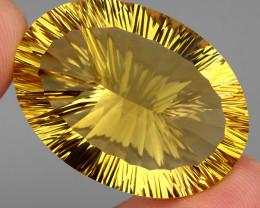 95.67 Ct. 100% Natural Top Yellow Golden Citrine Unheated Brazil Big!