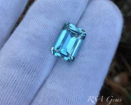 Aquamarine Emerald-cut - 6.28 carats