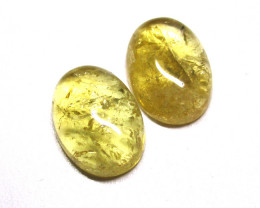 10.52tcw Citrine Matching Oval Cabochons