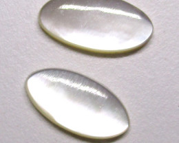 2.17cts Mother of Pearl Oval Cabochons Matching