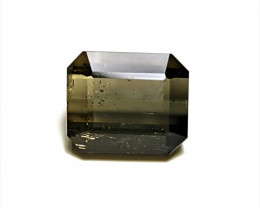 3.9Cts Natural Grey Color Pretty Emerald Cut Tourmaline 3.9Cts-Afg