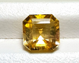 5Cts Lustrous Unheated Whisky color Asscher cut Tourmaline 5Cts -Afghan