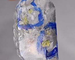 Rare Enhydro Petroleum Quartz Crystal 12.50 Carats.