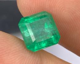 AIGS 3.42 Cts AAA Grade Afghanistan Panjshir Emerald Vivid Green