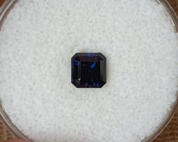 0,95ct Dark blue sapphire - Master cut!
