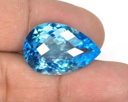 24.01 Carat Blue Natural Topaz Gemstone