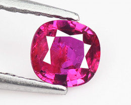 Unheat Ruby 0.37 Cts Burmese Pinkish Red Natural Loose Gemstone