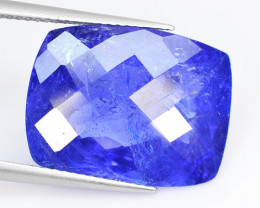 *NoReserve*Tanzanite 14.81 Cts Violet Blue Color Natural Tanzanite Gemstone