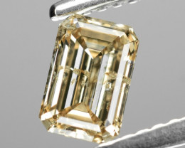 0.72 Cts Untreated Fancy Light Yellowish Brown Color Natural Loose Diamond