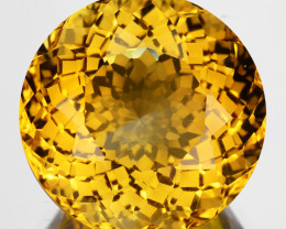 ~CUSTOM CUT~ 5.84 Cts Natural Golden Orange Citrine Fancy Round Brazil