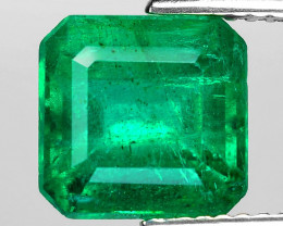 3.56 Cts Natural Vivid Green Colombian Emerald Loose Gemstone