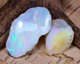 40.65Ct Bright Color Natural Ethiopian Welo Opal Rough B6597