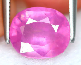 Pink Sapphire 3.69Ct Oval Cut Vivid Pink Color Sapphire B6644