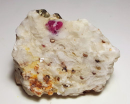 Amazing Natural color Damage free Ruby with Pyrite  specimen 450Cts-Afghani