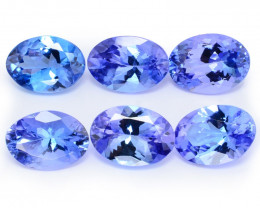 5.06 Cts 6pcs Oval 7x5 mm AA+ Violet Blue Color Natural Tanzanite Gemstone