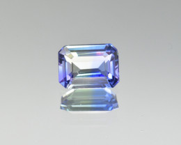 Natural Bi Color Tanzanite 1.83 Cts, Rare No Heat Gemstone