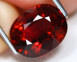 Rubellite 4.69Ct VS Oval Cut Natural Vivid Red Rubellite Tourmaline A1611
