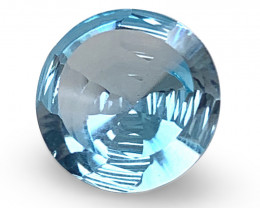 6.47ct Round Blue Topaz Fantasy/Fancy Cut