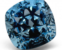 8.74ct Cushion Blue Topaz Fantasy/Fancy Cut
