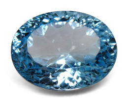 9.48ct Oval Blue Topaz Fantasy/Fancy Cut