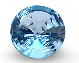 7.10ct Round Blue Topaz Fantasy/Fancy Cut